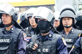 cineplex uniform bangkok may 24 riot police stand guard on major cineplex