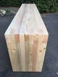 box joint doug fir 2x4 entry bench waterfall legs industrial