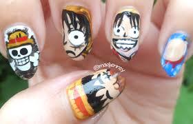 one piece monkey d luffy nail art u003c3 nail designs pinterest