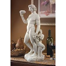 amazon com design toscano 1497 bacchus statue home u0026 kitchen