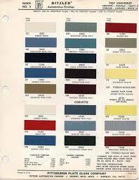 1991 corvette colors corvette articles 1967 corvette paint color chip sheets