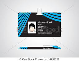 id card graphic design identification card and pen with special design clipart vector