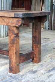 side table for kitchen rustic industrial vintage style timber work