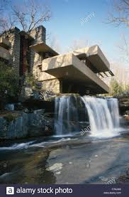 fallingwater or kaufmann residence is a house designed by