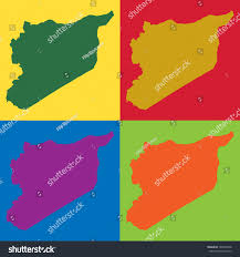 Map Syria by Abstract Background Illustration Map Syria Stock Illustration