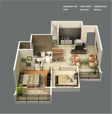 2nd level garage apartment house plan with 2 bedrooms open floor