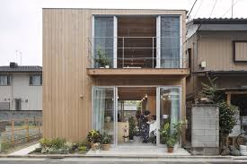 small house in wooden box house small house in japan mixes work and home