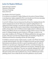 6 sample law recommendation letter free sample example