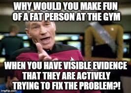 Skinny Guy Meme - a skinny guy and a fat guy walk into a gym plaiddadblog