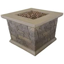 Menards Firepit by Bond Manufacturing Corinthian 34 In Square Envirostone Propane