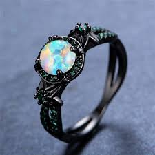 white fire rings images Black gold white fire opal ring the kit clubs jpg