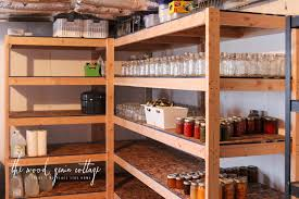 How To Organize A Pantry With Deep Shelves by Diy Basement Shelving The Wood Grain Cottage