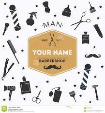 Hairdresser Business Card Templates Hair Salon Barber Shop Business Card Design Template Set Stock
