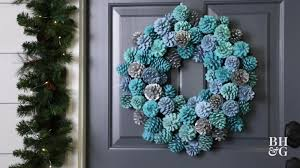 pine cone wreath dress up your door with this diy ombre pinecone wreath better