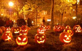Halloween Orange Lights by Halloween Pumpkins Lights In The Night