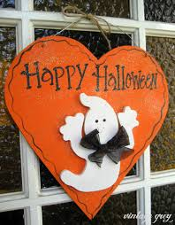 halloween signage vintage grey a little decorating and crocheting