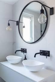 round mirror medicine cabinet bathroom mirror black house decorations