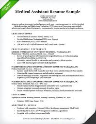 sample medical resume generic combination medical assistant resume