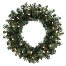 24in pine wreath with 35 lights c3 warm white