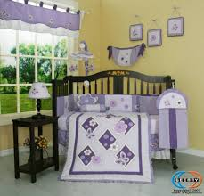 Gray Crib Bedding Sets by Bedroom White Black And Purple Crib Baby Bedding Set Ideas The