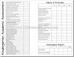 preschool report card template free homeschool report cards