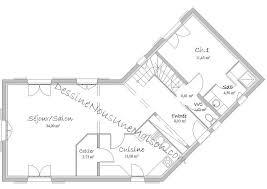 plan de maison en v plain pied 4 chambres maison en v sur sous sol plan plain pied