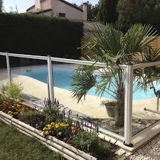 piscine en verre barrière de protection fixe en verre de piscine swim park
