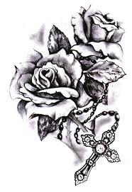 rose cross tattoo google search u2026 pinteres u2026