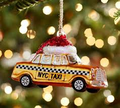 nyc taxi ornament pottery barn