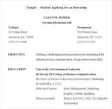resume sles for college students seeking internships sle college student resume for internship