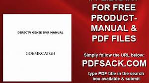 directv genie dvr manual video dailymotion