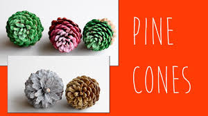 christmas diy how to make pine cone decorations glitter pine