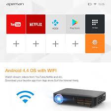 amazon com apeman mini dlp projector home hd video projector 3d