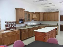 brown bamboo kitchen cabinets and brown wooden kitchen island with