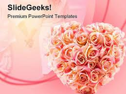 flowers wedding powerpoint template 0610