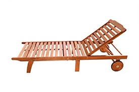 Plans For Wooden Chaise Lounge Amazon Com Vifah V255 Outdoor Wood Single Chaise Lounge Natural