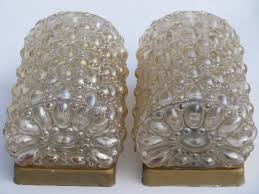 Vintage Wall Sconce Lighting Wall Sconce Lighting Fixtures W Iridescent Bubble Glass Shades