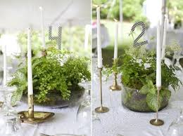 wedding table centerpieces wedding table decorations potted plants woman getting married