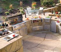 Ideas For Outdoor Kitchen Unique Decor With Suitable Flooring For Best Outdoor Kitchen Idea