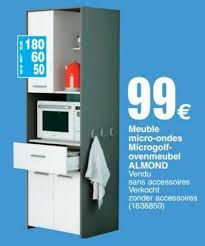 meuble micro onde cuisine cora promotion meuble micro ondes microgolf ovenmeubel almond