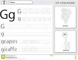 Free Alphabet Tracing Worksheets Cartoon Grapes And Giraffe Alphabet Tracing Worksheet Writing