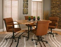 Kitchen Chairs On Wheels Swivel Caster Dining Room Chairs And Tables