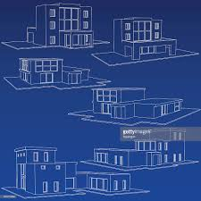 home blueprint collection vector art getty images