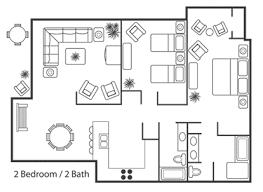 bedroom floor plans kauai regency condos