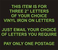 iron on football letters ebay