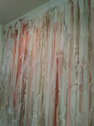 Shabby Chic White Curtains Lace Curtain Rag Fringe Shabby Chic White And Ivory With Lace