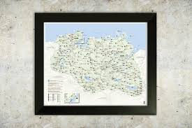 Oblivion Map Skyrim Map National Park Style 16x20 Poster