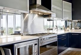 mirrored backsplash in kitchen using mirrors in kitchen backsplashes