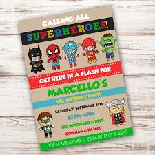 superhero birthday party invitation template edit with adobe