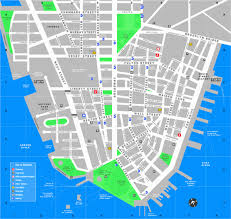map of new york and manhattan downtown manhattan tourist map manhattan new york mappery